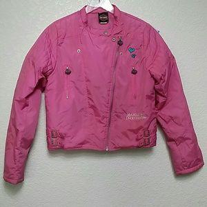 Harley Davidson Pink Jacket Girls XL 16